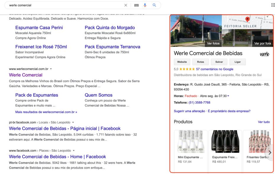 perfil Google meu Negócio