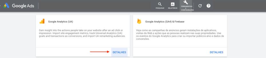 conta google analytics no google ads